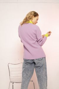 Seina merino cardigan purple