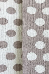 Dotty merino baby blanket beige