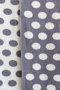 Star merino baby blanket grey