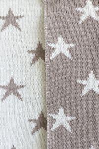 Star merino baby blanket beige