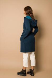 Suzume coat arctic blue
