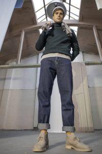 Akio merino roll neck sweater green