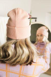 Iki meriino müts roosa