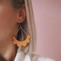 Kaarella mustard yellow earrings
