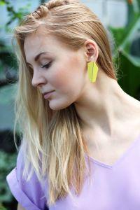 Lisa Kroeber Kõrvarõngad Folded Vertical Pastellroheline