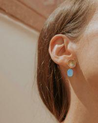 Helge Maddie kuld kõrvarõngad kaltsedooniga