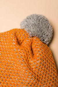 Tuk-tuk hat orange / grey