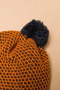 Tuk-tuk hat orange / dark blue