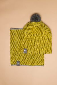 Tuk-tuk hat yellow / grey