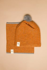 Tuk-tuk tube scarf orange / grey