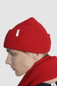 Vahvel meriino müts punane