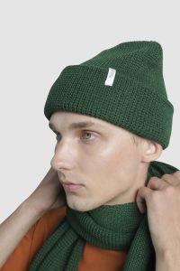 Vahvel meriino müts roheline