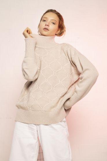 Kai merino sweater sand