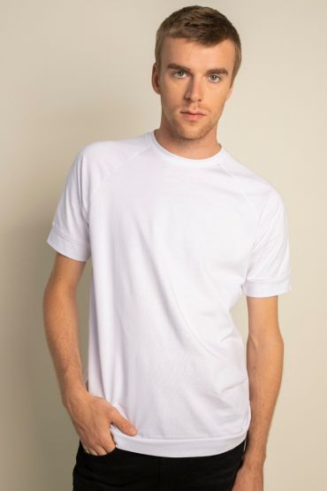 Raglan t-shirt white