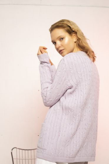 Mau cardigan purple heather