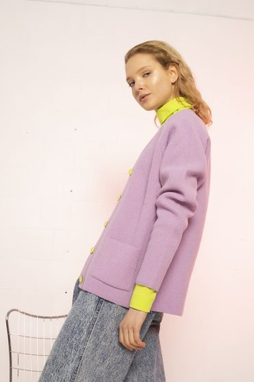 Seina cardigan purple