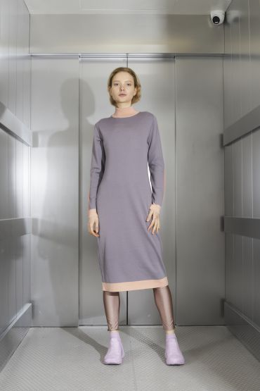 Nana merino dress purple