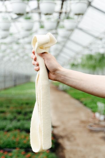 Pineapple merino belt white