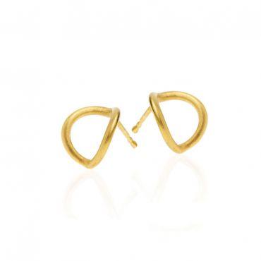 Baks Blue gold earrings