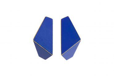 Lisa Kroeber Earrings Folded Dark Blue