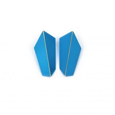 Lisa Kroeber Earrings Folded Vertical Blue