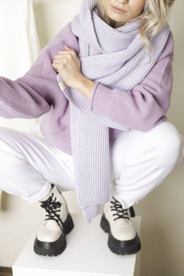 Hiro merino scarf purple heather