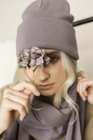 Iki merino hat purple