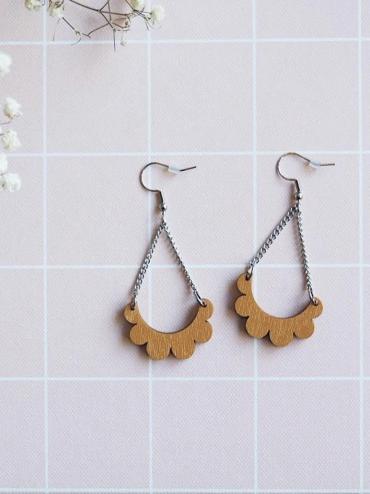 Kaarella mini mustard yellow earrings