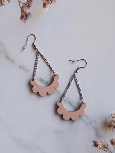 Kaarella mini pink earrings