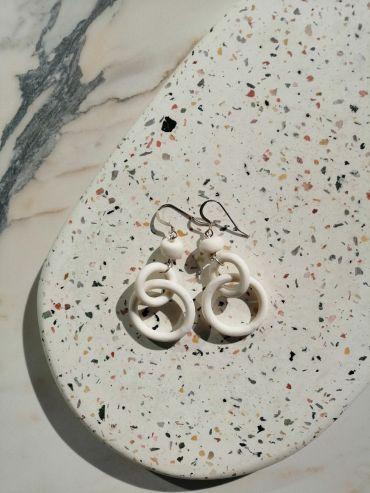 Tapfer white earrings