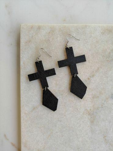 La.Kiva black diamonds earrings