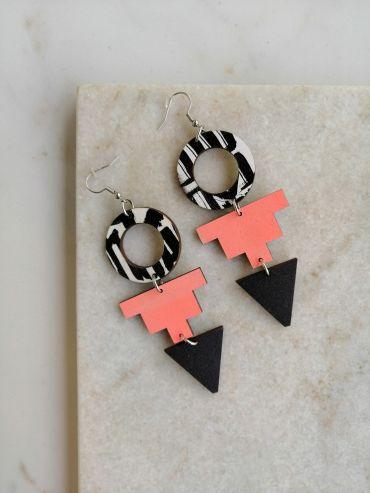 La.Kiva jazz queen pink earrings