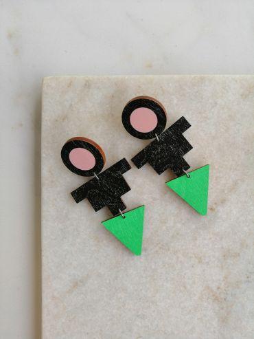 La.Kiva jazz queen green earrings