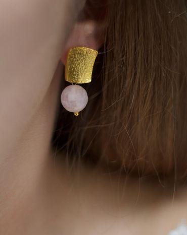 Helge Cleia gold earrings
