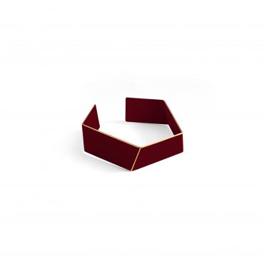 Lisa Kröeber Bracelet Folded Dark Red
