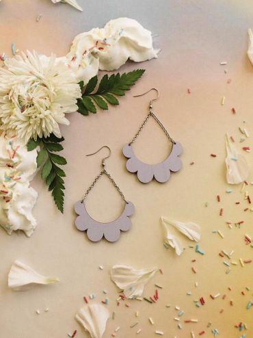 Kaarella lavender earrings