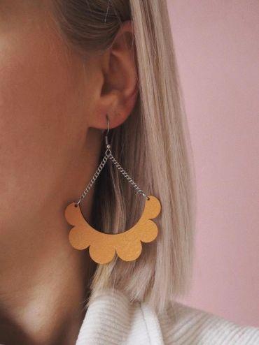 Kaarella mustard yellow earrings