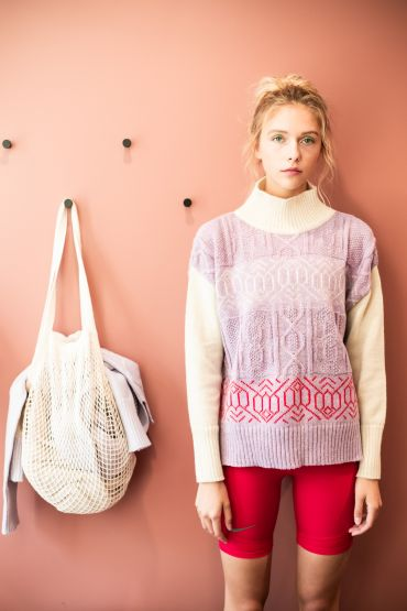 Masami merino sweater purple