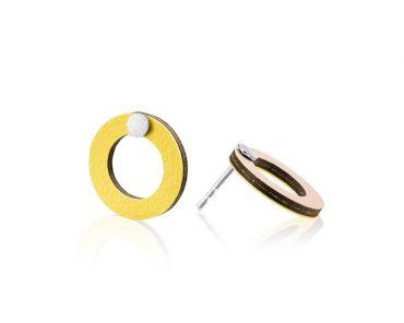 Baks kõrvarõngad kollane / heleroosa