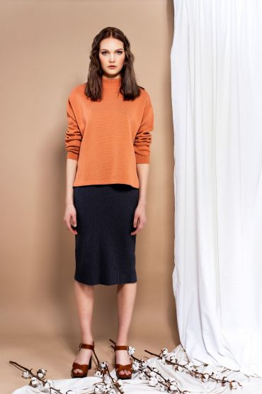 Reina pullover coral