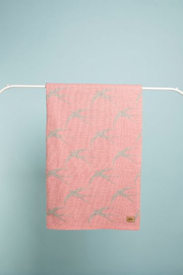 Swallow blanky pink / grey
