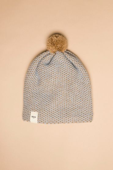 Tuk-tuk hat beige / light blue