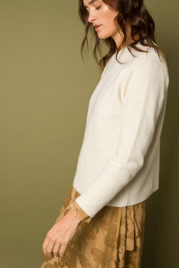 Oita merino sweater white