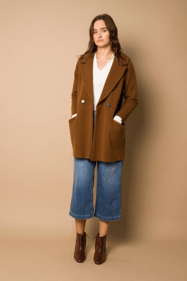 Daisuke long jacket caramel