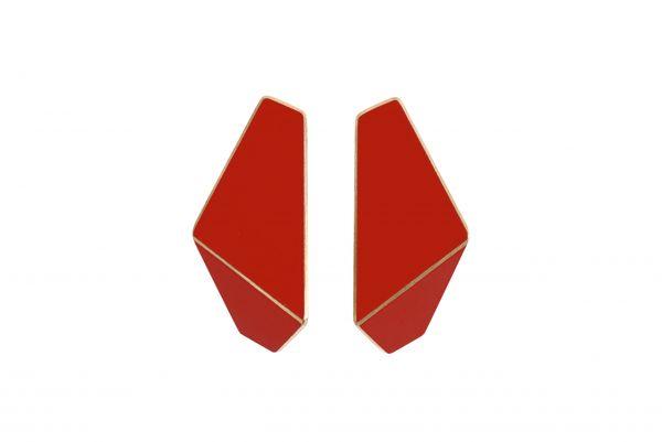 Lisa Kroeber Kõrvarõngad Folded Slim Punane