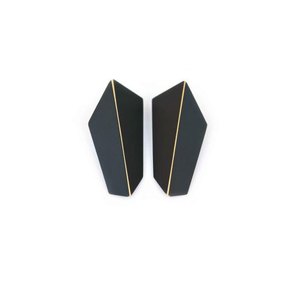 Lisa Kroeber Kõrvarõngad Folded Vertical Must