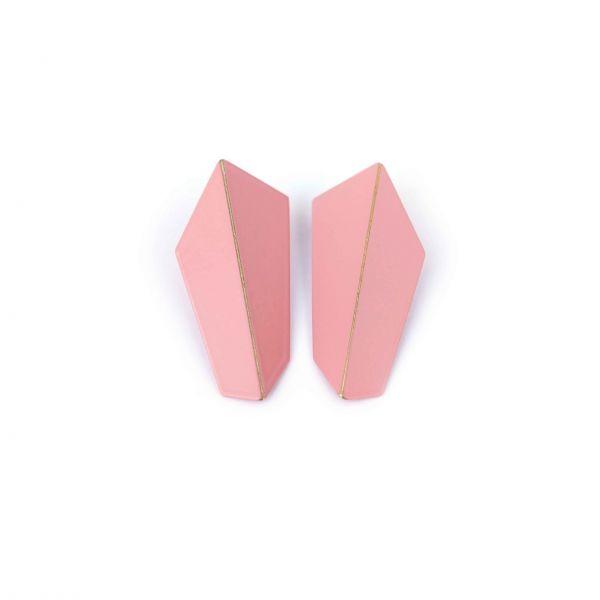 Lisa Kroeber Kõrvarõngad Folded Vertical Heleroosa