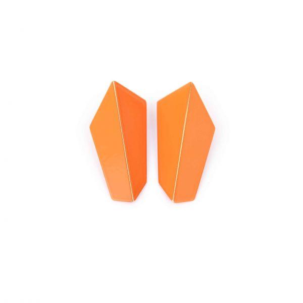 Lisa Kroeber Kõrvarõngad Folded Vertical Oranž