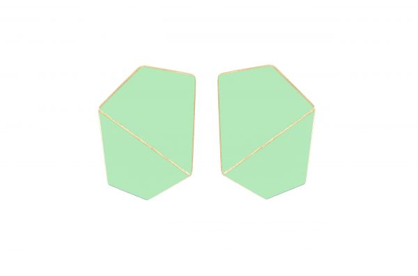 Lisa Kroeber Kõrvarõngad Folded Wide Pastellroheline