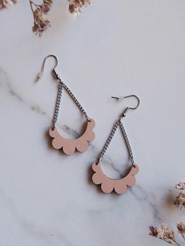 Kaarella mini pink earrings